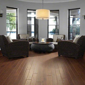 living room with hardwood floor