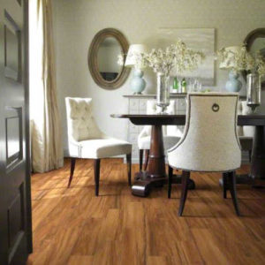 hardwood floor in dining room
